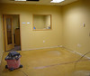 prep for new flooring in conference room