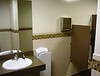 Restrooms, glass tile, custom hand dryers, touch-free fixtures