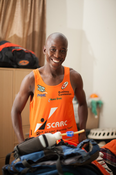 Loveday Zondi works as a bonder in a welding shop. He finished 8th in the Dusi