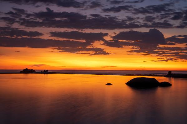 Camps Bay tidal pool sunset, 2020