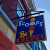 Scoops & Crepes. Ice cream shop in Belfast, Maine.
