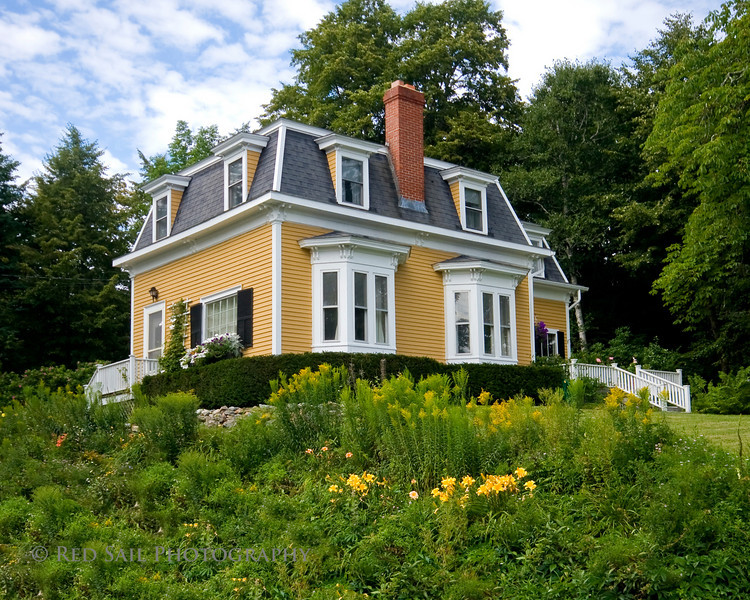 Private home in Southwest Harbor on Mt. Desert Island, Maine.