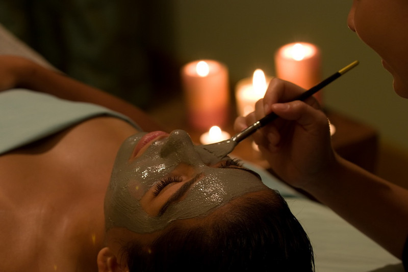Facial therapy for the Hibiscus Spa.
