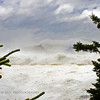 Giant wave from Hurrican Bill approaches the Maine coast at Schoodic Point.