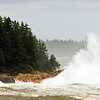 Schoodic Point, Maine. Waves from hurricane Bill.