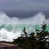 Rogue wave at Acadia National Park, Schoodic Point.