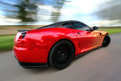 Foil wrapped Ferrari F599 GTB - Image for Totally Dynamic