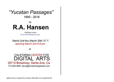 California Center for Digital arts Exhibiton cards 2019
