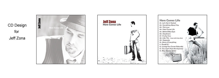 CD photography and graphic design for Jeff Zona.