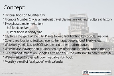 Concept preview of Pictorial Pocket Book on Mumbai City by Bombay Chamber of Commerce & Online Services (Suchit Nanda Photography).