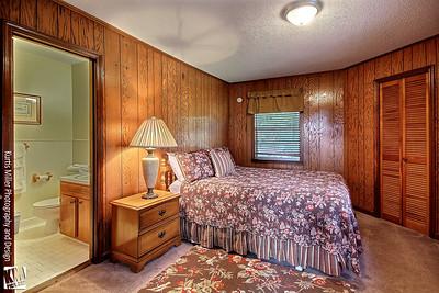 Chalet #2 Bedroom with adjacent full bathroom
