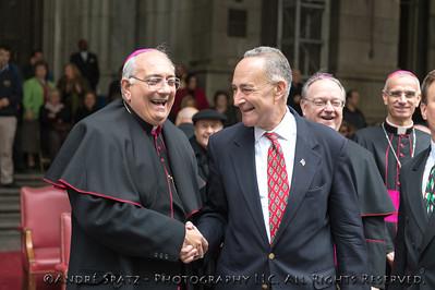 Brooklyn Bishop deMarzio and NY Senator Chuck Schumer