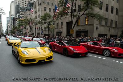 Ferrari and Lamborghini parade