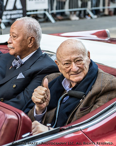 Former NYC Mayor Ed KOch at the Veterans Day Parade