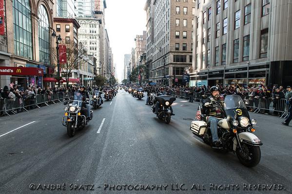 Veteran bikers lead the parade
