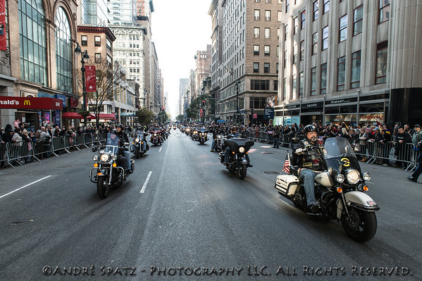 Veteran bikers lead the parade