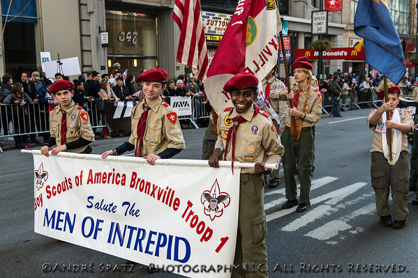 Boy Scouts of America salute the Men of the USS Intrepid