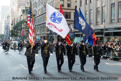 Leading the Veterans Day Parade