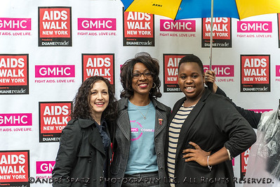 Alex Newell (actor and singer) and Bebe Neuwirth (Broadway Star, Tony & Emmy Winner) with Marjorie J. Hill (CEO of GMHC)