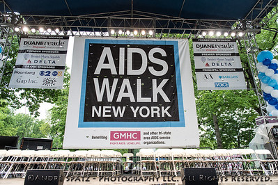 Main Stage Ready for the opening of the 28th Annual AIDS Walk New York.