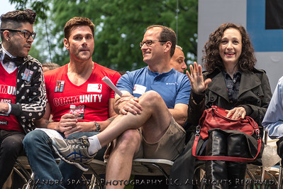 "Broadway Star: Bebe Neuwirth (Tony and Emmy Winner) with also SVP Bristol-Myers-Squibb Corp., Armando Thomas ""Mondo"" Guerra  and Jack Mackenroth (Project Runway)"