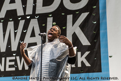 Alex Newell (Glee- TV series) - Singer and Actor - The rehersal performance at the 2013 AIDS Walk New York
