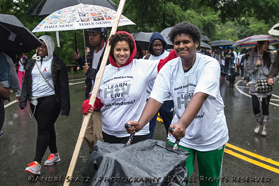 Walking at the 2013 AIDS WALK NY
