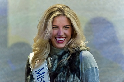Miss New York 2014, at the 82nd Annual Rockefeller Center Christmas Tree Lighting Ceremony