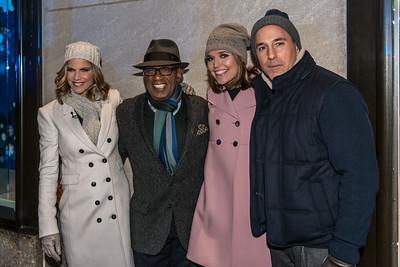 The NBC host crew: Matt lauer, Al Roker, Savanah Guthrie and Natalie Morales