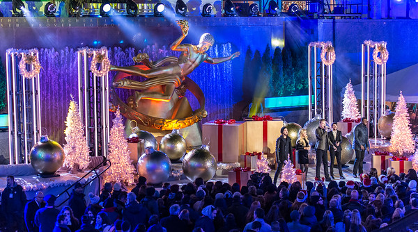 Pentatonix performs at the 82nd Annual Rockefeller Center Christmas Tree Lighting Ceremony