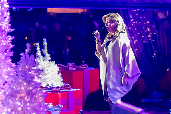 Trisha Yearwood performs at the 82nd Annual Rockefeller Center Christmas Tree Lighting Ceremony
