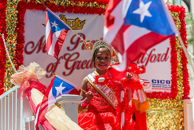 The little Miss of  the Puerto Rican Parade, Hartford Chapter