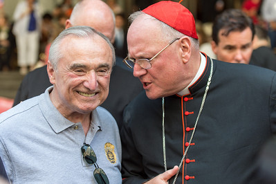 Cardinal Dolan in conversation with NY Police Commissioner Braton