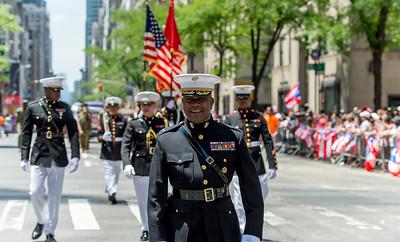 U.S. Marines delegation at the Parade