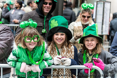 Young revelers celebrate the parade.