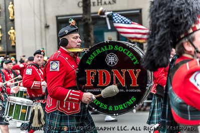Emerald Socitey Pipes & Drums, Fire Department New York City