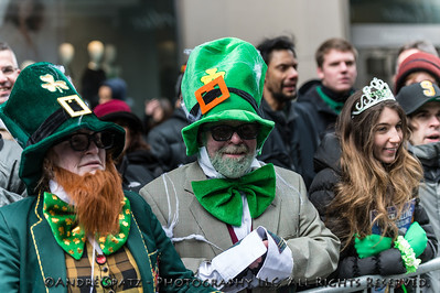 Costumed revelers celebrate at the parade.