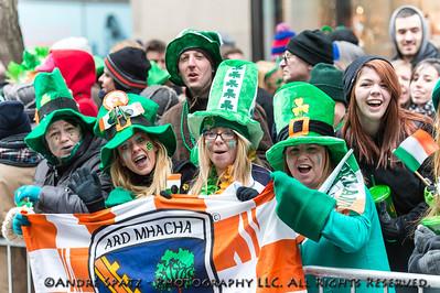 Revelers celebrate at the parade.