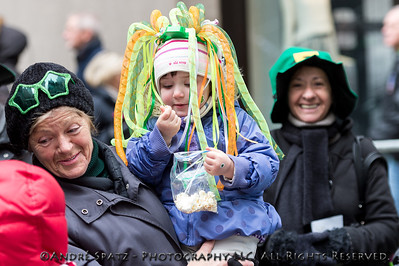 Revelers celebrate at the parade.