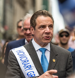 New York Governor, Andrew Cuomo, Honorary Grand Marshal at the 51st Celebrate Israel Parade in New York City, the largest annual pro-Israel event in the world outside of Israel.
