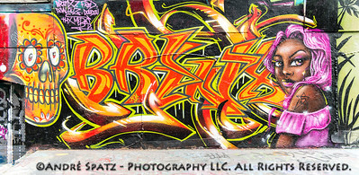 Graffiti in 5 Pointz by Brinxj, Fred, Djalouz, Doudou