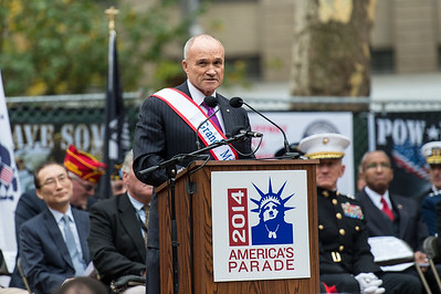 The Honorable Raymond W. Kelly, Former Commissioner, NYPD. Grand Marshall of the Veterans Day Parade at the Parade Opening Ceremony.