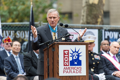Paul W. Bucha - Medal of Honor Recipient during the Veterans Day Parade Opening Ceremony.