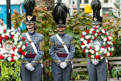 U.S. Army Cadets guarding the honor wreaths