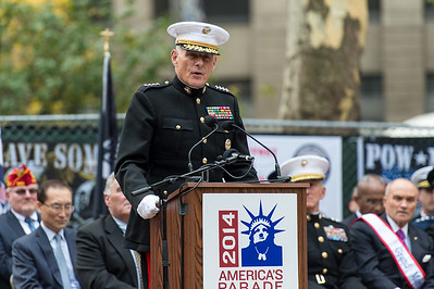 General John F. Kelly - Honorary Grand Marshal. Commander U.S. Southern Command during the Veterans Day Parade Opening Ceremony.