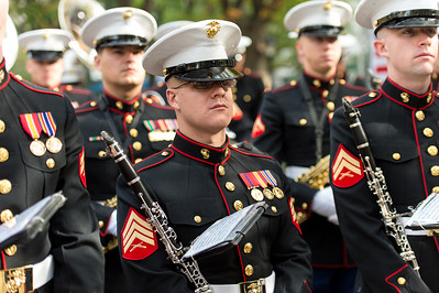 The U.S. Marines Band from Quantico at the Parade Opening Ceremony.