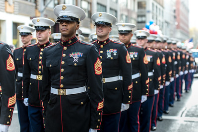 The U.S. Marines at the Veterans Day Parade.