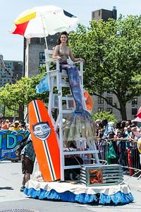 A real guardian mermaid :) - kicks off the parade