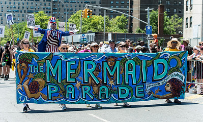 The Mermaid Parade at Coney Island, NY
