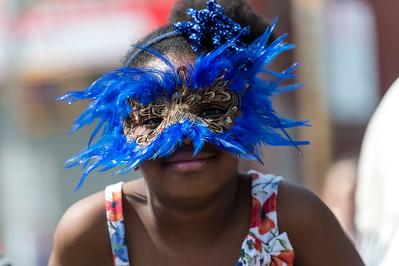 Revelers at The Mermaid Parade at Coney Island, NY